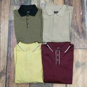 Lot of 4 Men's Polo Shirts by Haggar Size Large